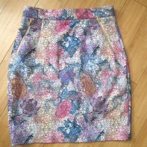 H&M floral pencil skirt 8